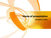 Abstract/Textures: Orange Ribbon PowerPoint Template #06472