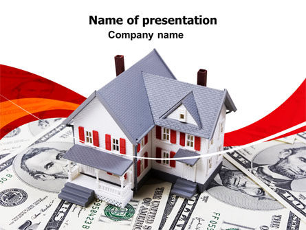 Credit On Mortgage PowerPoint Template