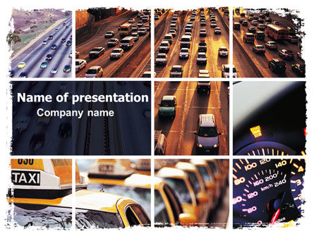Cars and Transportation: City Traffic PowerPoint Template #06476