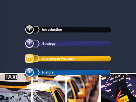 City Traffic PowerPoint Template, Slide 3, 06476, Cars and Transportation — PoweredTemplate.com