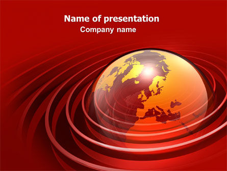 Red Globe PowerPoint Template, 06477, Global — PoweredTemplate.com