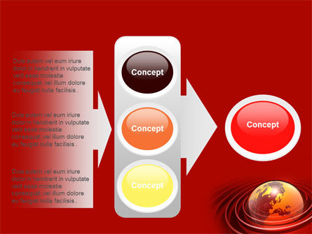 Red Globe PowerPoint Template Slide 11