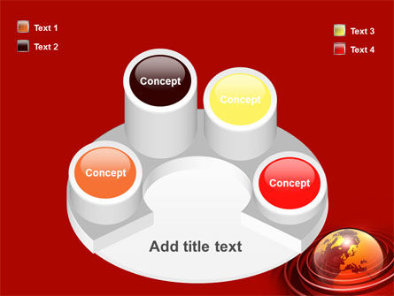 Red Globe PowerPoint Template Slide 12