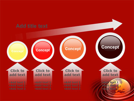 Red Globe PowerPoint Template Slide 13
