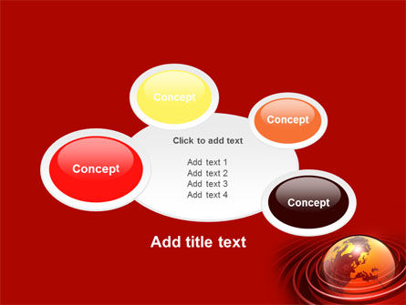 Red Globe PowerPoint Template Slide 16