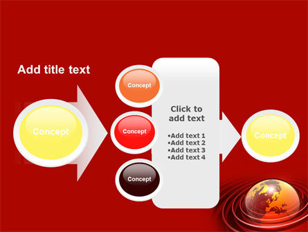 Red Globe PowerPoint Template Slide 17