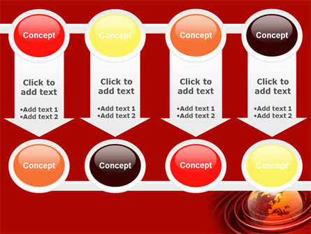 Red Globe PowerPoint Template Slide 18
