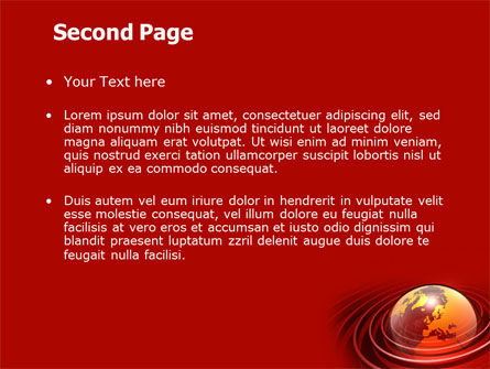Red Globe PowerPoint Template, Slide 2, 06477, Global — PoweredTemplate.com