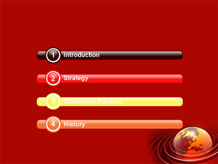 Red Globe PowerPoint Template, Slide 3, 06477, Global — PoweredTemplate.com
