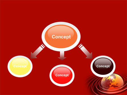 Red Globe PowerPoint Template, Slide 4, 06477, Global — PoweredTemplate.com
