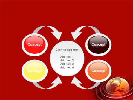 Red Globe PowerPoint Template Slide 6
