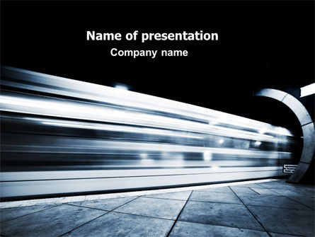 Subway PowerPoint Template, 06478, Cars and Transportation — PoweredTemplate.com