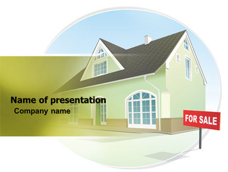 Careers/Industry: Realty For Sale PowerPoint Template #06479