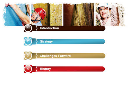 Bouldering PowerPoint Template, Slide 3, 06481, Sports — PoweredTemplate.com