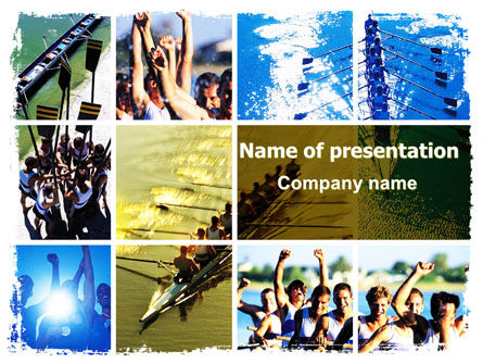 Sports: Rowing PowerPoint Template #06483
