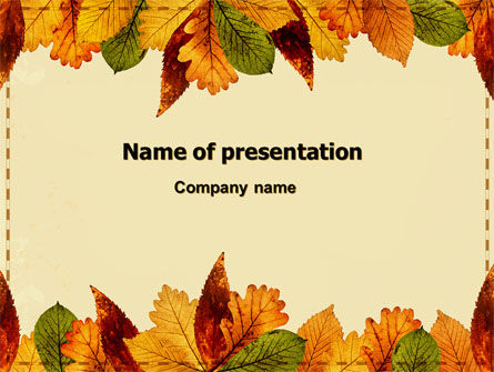 Autumn Leaves in Light Brown Palette PowerPoint Template