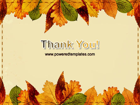 Autumn Leaves in Light Brown Palette PowerPoint Template Slide 20
