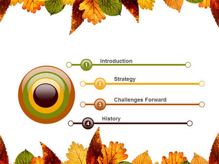 Autumn Leaves in Light Brown Palette PowerPoint Template Slide 3