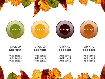 Autumn Leaves in Light Brown Palette PowerPoint Template Slide 5