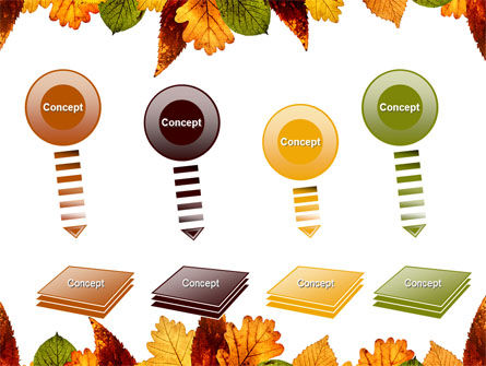 Autumn Leaves in Light Brown Palette PowerPoint Template Slide 8