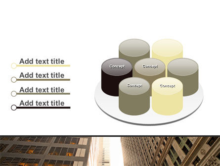 Downtown Skyscrapers PowerPoint Template Slide 12