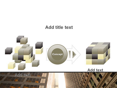 Downtown Skyscrapers PowerPoint Template Slide 17