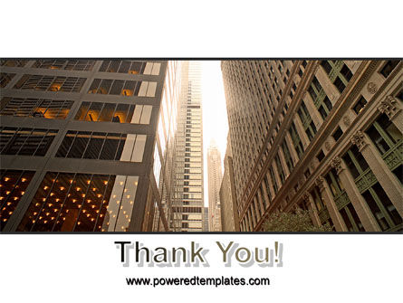 Downtown Skyscrapers PowerPoint Template Slide 20