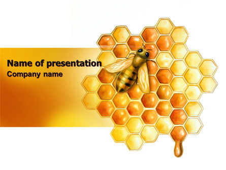 Beehive PowerPoint Template, 06490, Nature & Environment — PoweredTemplate.com