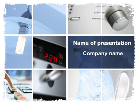 Power Saving Equipment PowerPoint Template, 06491, Technology and Science — PoweredTemplate.com