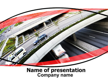 Road Junction Free PowerPoint Template, 06492, Cars and Transportation — PoweredTemplate.com