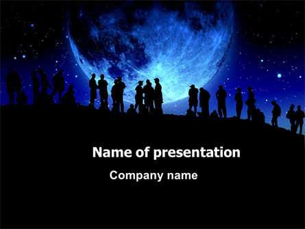 Late Night Crowd PowerPoint Template, 06493, Technology and Science — PoweredTemplate.com