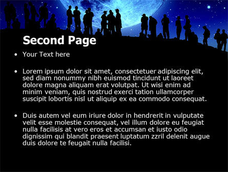 Late Night Crowd PowerPoint Template, Slide 2, 06493, Technology and Science — PoweredTemplate.com
