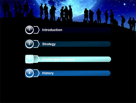Late Night Crowd PowerPoint Template, Slide 3, 06493, Technology and Science — PoweredTemplate.com