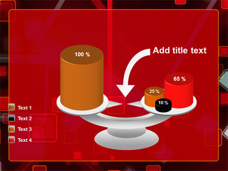 Red Squares Abstract PowerPoint Template Slide 10
