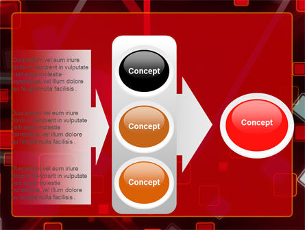 Red Squares Abstract PowerPoint Template Slide 11