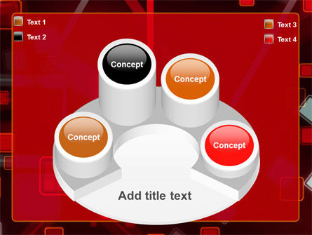 Red Squares Abstract PowerPoint Template Slide 12