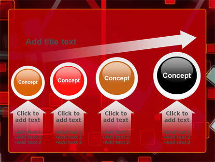 Red Squares Abstract PowerPoint Template Slide 13