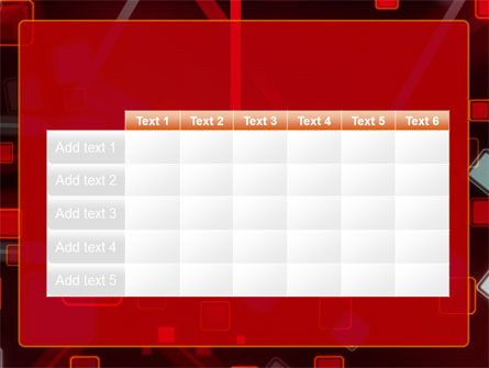 Red Squares Abstract PowerPoint Template Slide 15