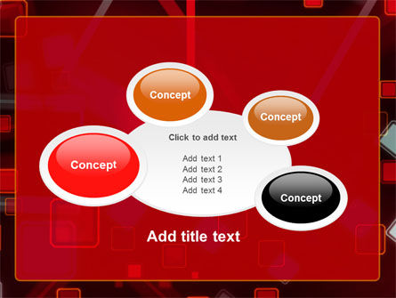 Red Squares Abstract PowerPoint Template Slide 16