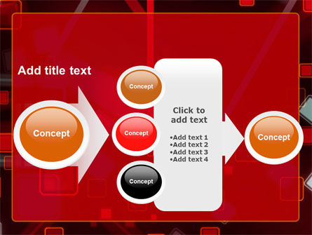 Red Squares Abstract PowerPoint Template Slide 17