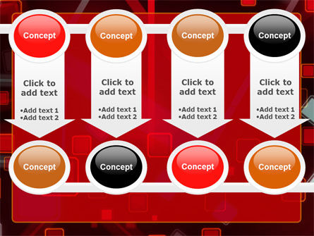 Red Squares Abstract PowerPoint Template Slide 18