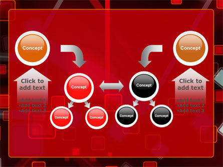 Red Squares Abstract PowerPoint Template Slide 19
