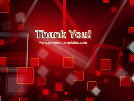 Red Squares Abstract PowerPoint Template Slide 20