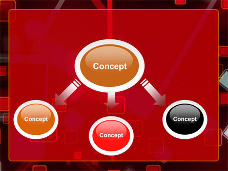 Red Squares Abstract PowerPoint Template Slide 4