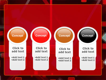 Red Squares Abstract PowerPoint Template Slide 5