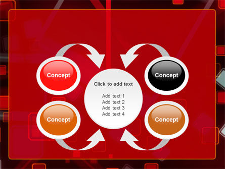 Red Squares Abstract PowerPoint Template Slide 6
