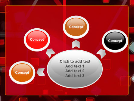 Red Squares Abstract PowerPoint Template Slide 7