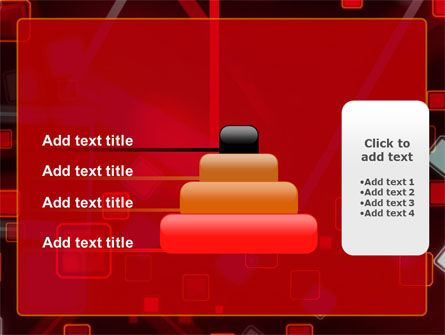 Red Squares Abstract PowerPoint Template Slide 8