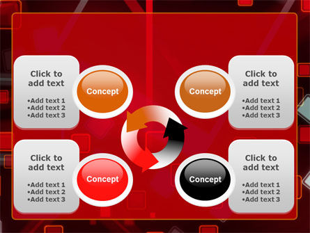 Red Squares Abstract PowerPoint Template Slide 9
