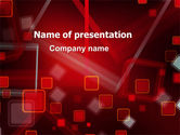 Abstract/Textures: Red Squares Abstract PowerPoint Template #06495